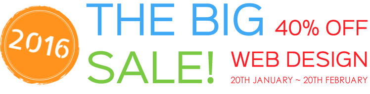 The Big 2016 Sale - 40% OFF!
